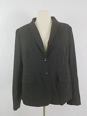A Pea In The Pod Maternity Blazer Jacket Gray Button Closure Size M
