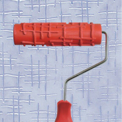 7 inch Embossed Crocodile Skin Painting Roller with Handle for Wall Decorat V1A2