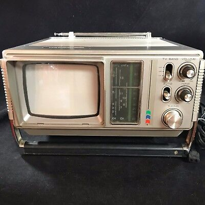 Vintage Haminex HX 5110-1 Portable TV for Cable, UHV, VHF, CCTV with Manuals
