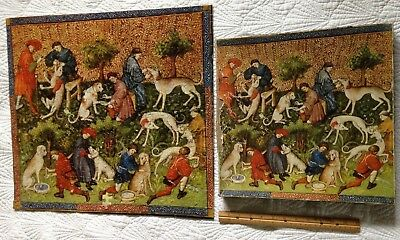 "1969 Gaston Phebus Greyhound Tapestry ""The Book Of The Hunt"" Springbok Puzzle!"