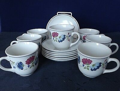 BHS Priory Tea Cup & Saucer x 7