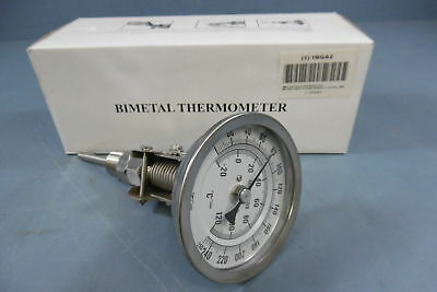 NIB Ashcroft 1NGA2 Bimetal Thermometer 90 Degree Bend Head