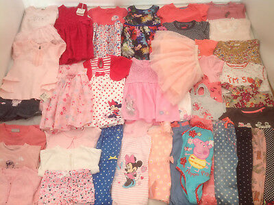 Huge Baby Girls Summer Clothes Bundle 9-12 months LOTS OF PICTURES