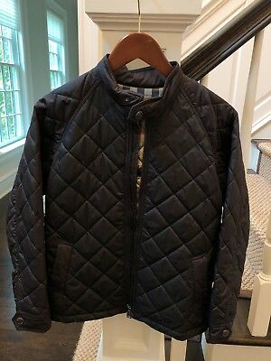 Burberry Black Quilted Jacket Moto Style Size 12 Youth (Girls)