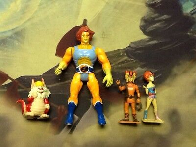 Vintage 1985 Thundercats Figure Lot Of 4 Lion O Snarf Wily Kit & Kat
