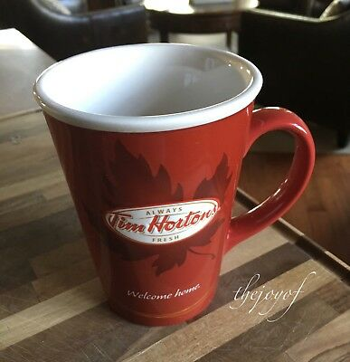 Tim Horton's Limited Edition #11 Welcome Home Maple Leaf Red Coffee Tea Mug Cup