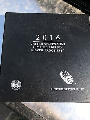 2016-S US Mint Limited Edition Silver Proof Set in Box w/Paper