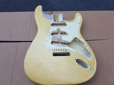 1965 Fender Stratocaster Body - Original Olympic White