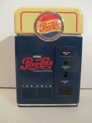 Pepsi-Cola Vending Machine Replica Coin Sorter Bank 1996