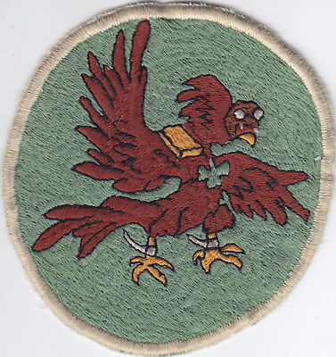 Original WWII 65th Fighter Squadron Patch, Embroidered, Theater-made (Italy)