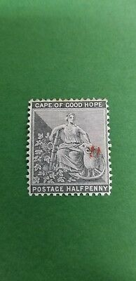 """1878 Griqualand West """"Hope""""  .5p gray black unused Red Ovprt.Inver."""