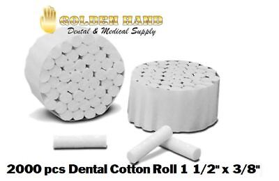2000 pcs Dental COTTON ROLLS #2 MEDIUM Full Case US SELLER FREE SHIPPING