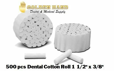 500 Pcs Dental Cotton Rolls # 2 Medium chlorine free - FREE SHIPPING
