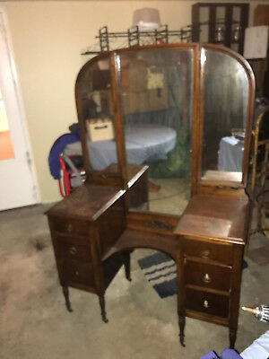 Antique Victorian Vanity Dresser w/ Mirror Top (Early 1900's)