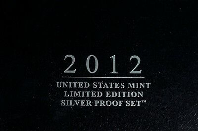 2012 United States Mint Limited Edition Silver Proof Set With Box & COA