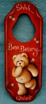 "Jill Paris Rody tole painting pattern ""Shhh...Bee Beary Quiet"""