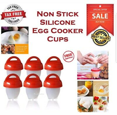 USA Kitchen Egglettes Egg Cooker Hard Boiled Eggs without the Shell 6 Egg Cups