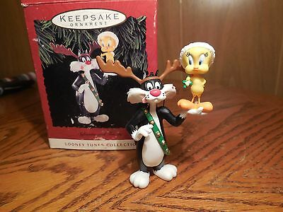"Hallmark Ornament ""Sylvester & Tweety"" Looney Tunes Collection 1993"