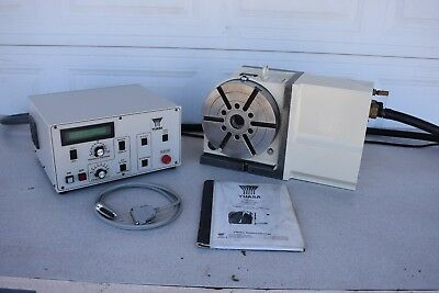 Used Yuasa Udx-22001 Cnc 4Th Axis Rotary Table Indexer With Control Udnc-100