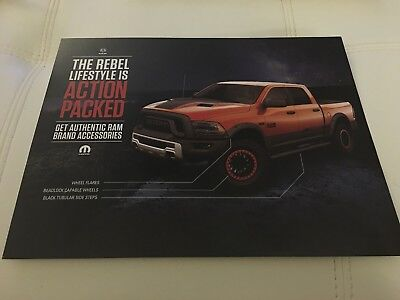 2016 Dodge RAM REBEL 2-page Original Sales Accessory Brochure