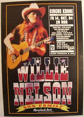 Willie Nelson And Family Concert Tour Poster 1994