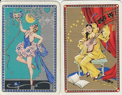 Vintage Swap / Playing Card - 2 Single - Dancers/performers A