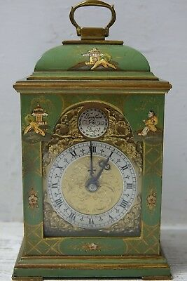 Very Beautiful Old Clock With Japanese Lacquer Design - Very Rare - L@@k