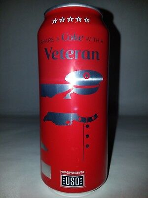 Share a coke with a Veteran Limited Edition Full 16oz Coca Cola Can