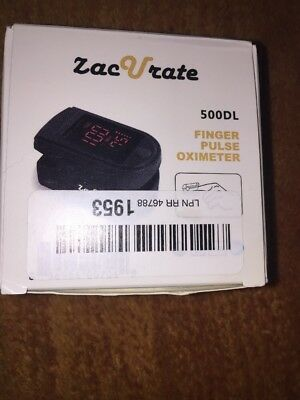 Zacurate 500DL Pro Series Black Finger Pulse Oximeter Oxygen Saturation NEW