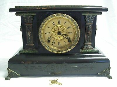 Antique 1800's Seth Thomas Adamantine Chime Mantle Clock