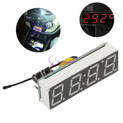 Red DS3231SN 3 in 1 LED Digital Clock Temperature Voltage Module DIY Electronic