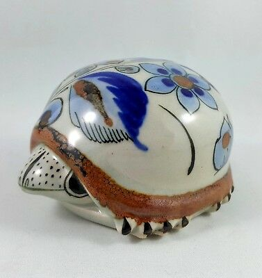 Vintage Ken Edwards Turtle Figurine Tonala Mexican Pottery Sighed