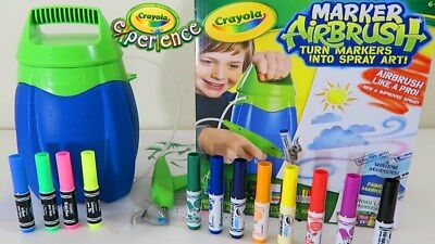 CRAYOLA Marker Airbrush Kit ~ Near New in Box! (Post/PU)