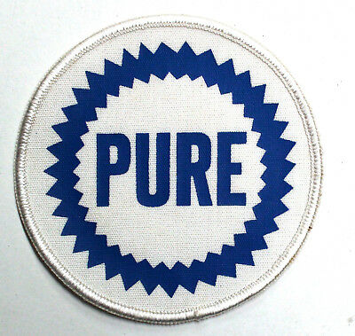 """Old fashioned Pure Oil Company logo patch 3.5"""" diameter NEW CONDITION"""