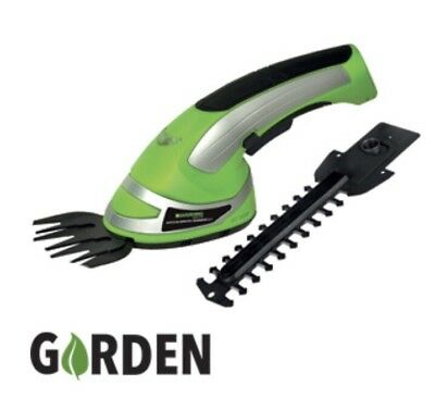 Garden Shears Cordless 2in1 Grass Lawn Bush Hedge Hand Trimmer Cut Battery 3.6V