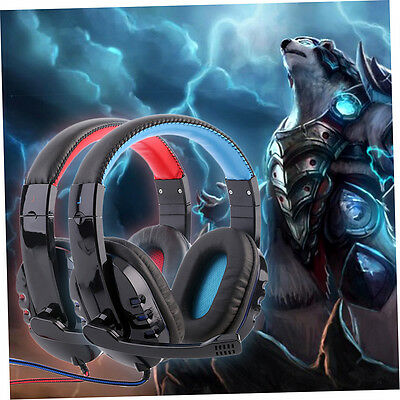 Professional Gaming Headset Surround Stereo Headphone 3.5mm With Mic for PC jl