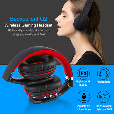 Beexcellent Gaming Headset Wireless Bluetooth Mic Gaming Headphone For PC Tablet
