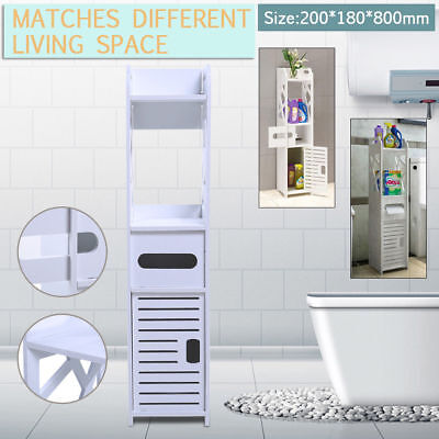 Waterproof Bath Storage Caddy Toilet Cabinet Tissue Box Holder Cupboard Cover AU