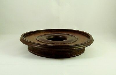 Large Antique Chinese Hard Wood Ring Form Stand 17cm circa 1900