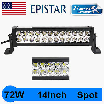 "14""INCH 72W SUV LED Work Light Spot Bar Beam Offroad Bar Lamp Car Truck Boat ATV"