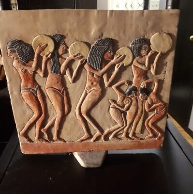 Authentic Egyptian Hand Carved Stone Master Art piece from the Cairo, Egypt.