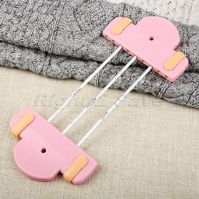 1Pc Pink Plastic Flower Hand Knitting Weaving Loom 3 Rods For Scarf Bow Tassels
