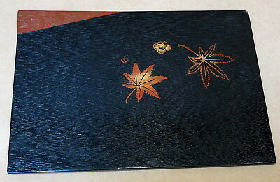 Beautiful Vintage Japanese Laquer Ware Tray In Box