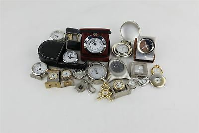 Lot of 20 x Vintage QUARTZ Miniature/Novelty Clocks UNTESTED