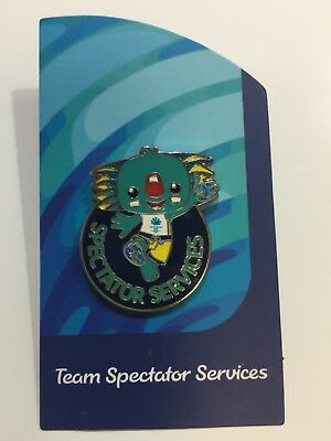 Commonwealth Games GOLD COAST  2018 SPECTATOR SERVICES pin RARE!