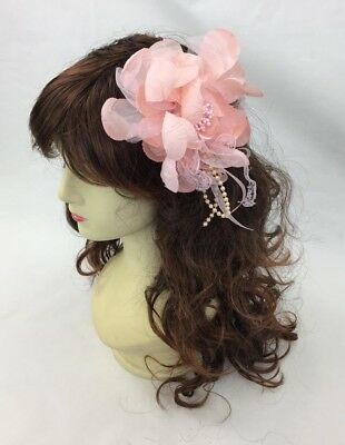 Light Pink Fascinator Melbourne Cup Fascinate Spring Races Party Wedding