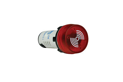 22mm Panel Mount Pulsating Buzzer & Flashing Red LED 230VAC
