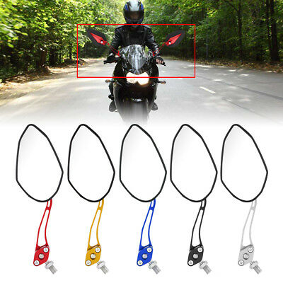 2Pcs Universal 8mm 10mm Motorcycle Rearview Side Mirrors For Motorbike Scooter