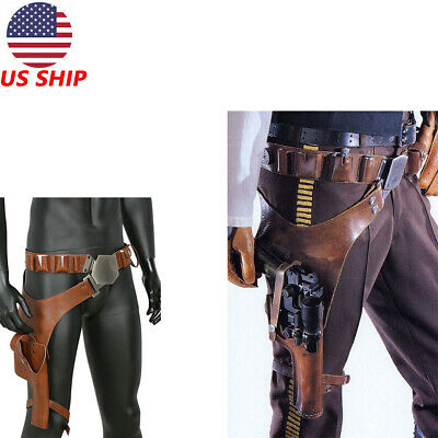 Star Wars Han Solo Cosplay Belt Costume Props Leg Pack Gun package Halloween New