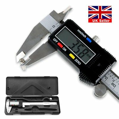 6 inch Electronic Digital Vernier Caliper Micrometer LCD Display Office UK Stock